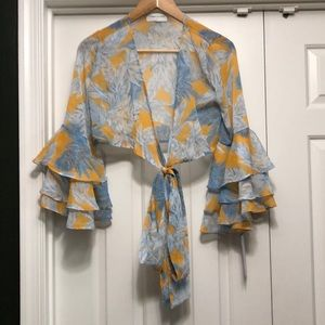 Goodnight Macaroon Boho Front Tie Blouse Size S